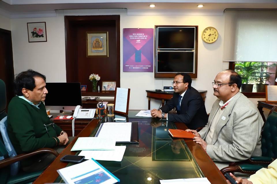 Meeting with Suresh Prabhu
