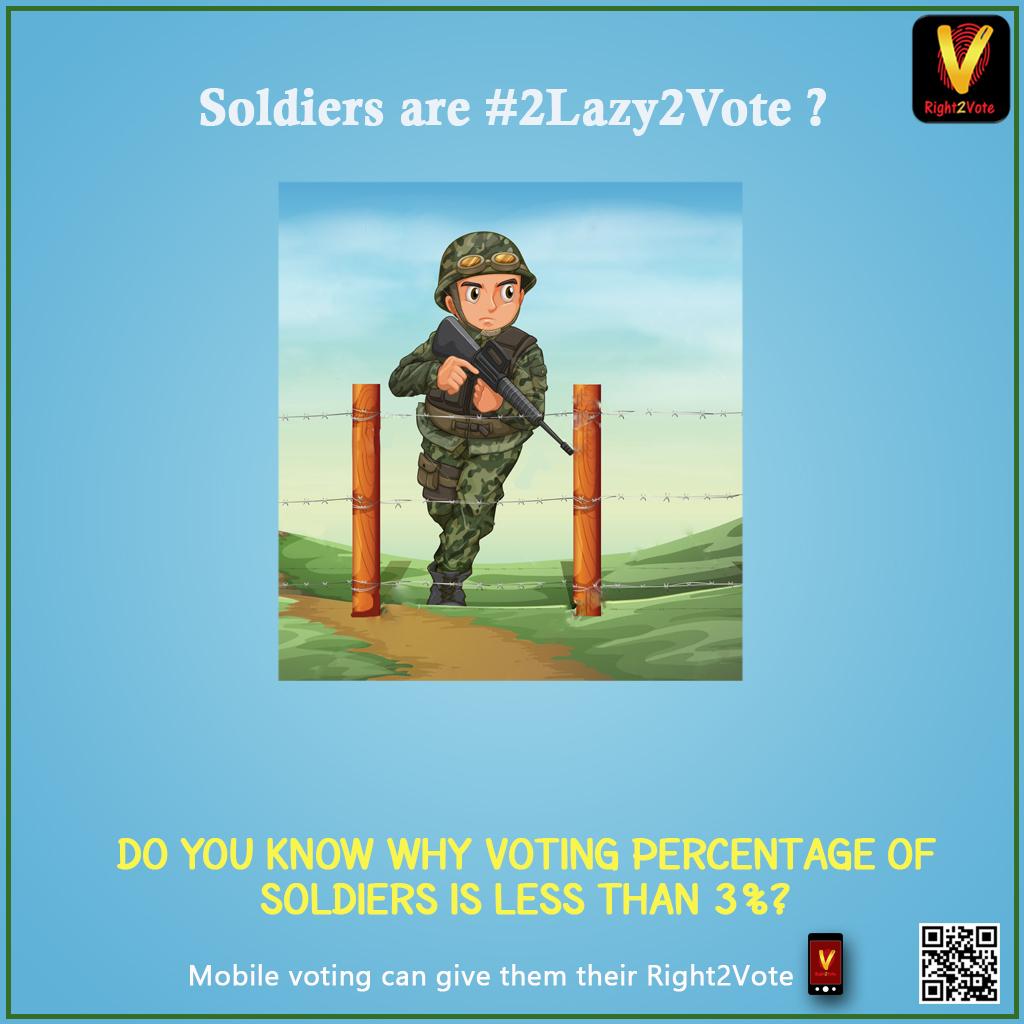 Right2Vote Soldier