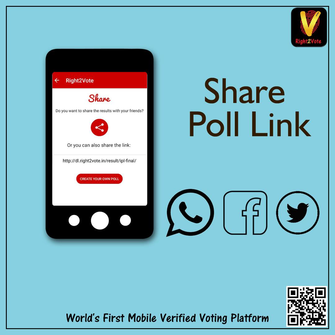 Share Poll Link on Social Media
