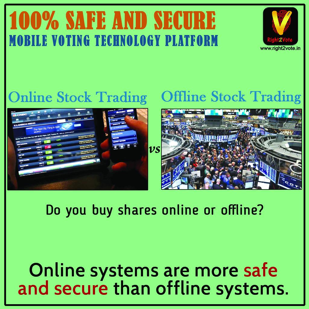 Offline stock trading Vs Online stock trading