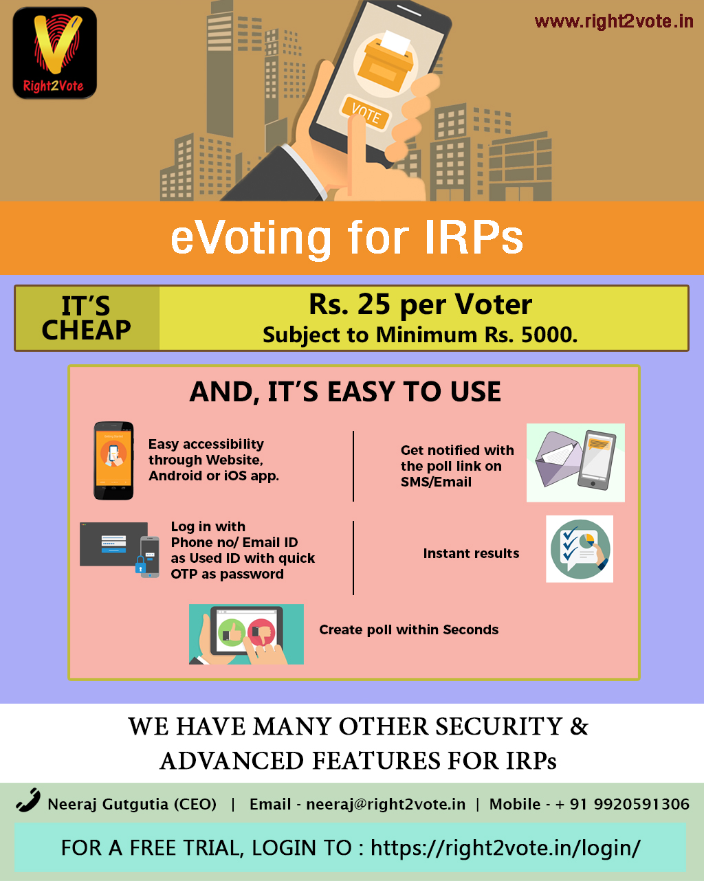 eVoting for IRPs